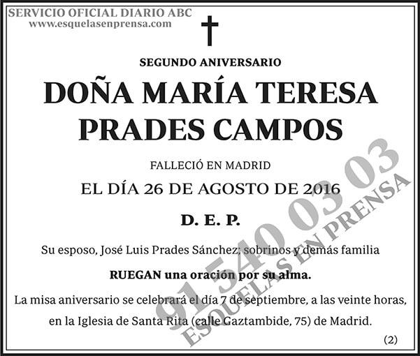 María Teresa Prades Campos